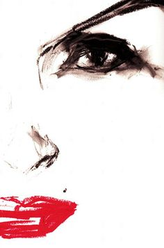 david downton - I love the messiness of this sketch, he doesn't try to hard to make it perfect which makes it stand out even more a d the bold use of lip draws your attention.