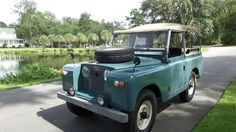 Land Rover 88 Serie II Soft top canvas in Park.
