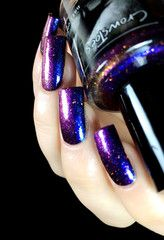 Crows Toes:  ⭐ Muspelheim ⭐ ... a Blue-purple to red-orange multichrome with both coordinating and contrasting color shift glitters