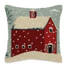 Snowy Red Barn Hooked Wool Pillow Peking Handicraft http://www.amazon.com/dp/B015J7CB0A/ref=cm_sw_r_pi_dp_sWOnwb1DRM3QT