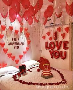 18 Ideas For Birthday Surprise Ideas Romantic Boyfriends Cute Valentines Day Ideas, Valentines Gifts For Boyfriend, Valentines Diy, Valentines Day Presents, Valentine Special, Diy Valentine's Day Decorations, Valentines Day Decorations, Romantic Anniversary, Anniversary Gifts