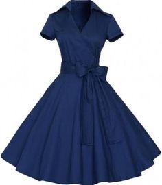 Chic Stand Collar Bow Waist A-line Dress