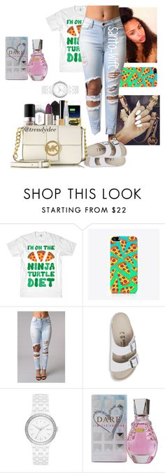"""Read D Box ❤"" by santo-wife ❤ liked on Polyvore featuring The Small Print., Birkenstock, DKNY and GUESS"