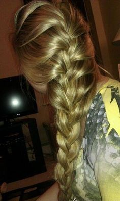 braid I wish my hair was this thick!!!