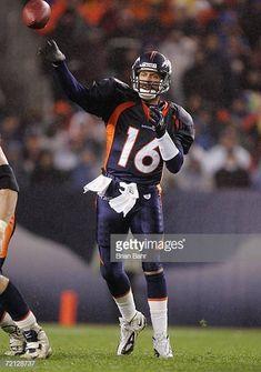 8e1445901b4 Quarterback Jake Plummer of the Denver Broncos throws against the Baltimore  Ravens in second half on