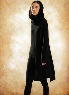 wool hooded dress for women 【Features】 ❤ Woolen weave imitates the honeycomb in the nature with reasonable warm keeping structure; ❤ hooded design