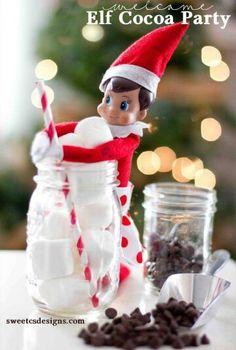 Elf on a mason jar!