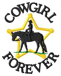 """Cowgirl Forever"" machine embroidery design"