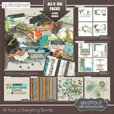 New Gotta-Grab-It with Seatrout Scraps! The Gottapixel Gotta Grab It week starts today and Seatrout Scrap's contribution this month is called All Kinds of Everything. A great mix of elements, papers and coordinating packs that would be great for scrapping just about anything!! In 8 parts, All Kinds of Everything will be available at just $1 per pack through 18th October.  Blog Post; http://seatroutscrapsdesigns.com/1/post/2014/10/all-kinds-of-everything.html. 10/11/2014