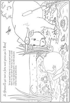 Coloriages de la fable la cigale et la fourmi lire et crire pinterest sequencing pictures - Comment dessiner une fourmi ...
