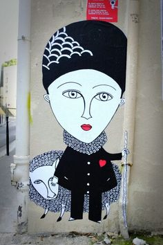 Fred le chevalier - street art - paris 20 rue henri chevreau aout 2013