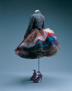 Vivienne Westwood . Jacket and skirt  England, 1993. Nylon lace, organdy, tulles.  Photo: Takashi Hatakeyama.