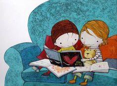Compartimos lectura! / Shared reading! | Montse Tobella via Pinzellades al món