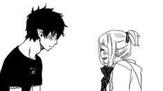 Blue Exorcist Rin et Shiemi Blue Exorcist Shiemi, An No Exorcist, Blue Exorcist Anime, Rin Okumura, Rin And Shiemi, Cowboy Bebop, Anime Couples Hugging, Avatar, Inu Yasha