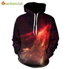 ISTider New Series Space Galaxy Sweatshirt Hoodies Print Hip Hop Coats Casual Sweat Shirt Men Women Hooded Tops Plus Size Galaxy Hoodie, Jumper Outfit, Hoodie Sweatshirts, Hoody, Sweater Hoodie, Bts Hoodie, Hoodies For Teens, Girls Hoodies, Sports Hoodies