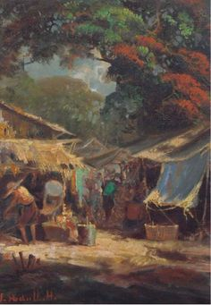 SOEDJONO ABDULLAH (INDONESIAN, 1911-1991) The market