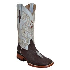Ferrini Women's Stingray Print Square Toe Western Boots -- Stingray boots are now on my bucket list for boots I'd like to own...
