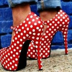 #Valentines #AdoreWe #Shoespie - #Shoespie Glamous Polka Dot Stiletto Heels Ankle Straps - AdoreWe.com