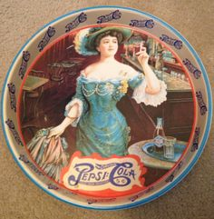 Vintage Pepsi Cola Victorian Lady Tray by UpcycleRecycleShop, $10.00
