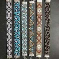 #bracelet #indigenous #embera #design #mostacilla PREGUNTA.. Envíos de nuestra #artesania a todo mundo Bead Loom Bracelets, Cute Bracelets, Beaded Bracelet, Seed Bead Patterns, Beading Patterns, Loom Beading, Bead Weaving, Seed Beads, Collars