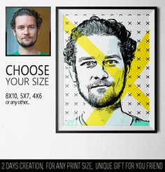 Bright and minimalistic print for him. Bright yellow stripes and a light black-and-white pattern are perfectly combined with any photos. Enjoy your