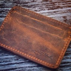 Simple. Nice to look at, too. What more do you need? | Saddleback Leather Co. | ID Wallet | 100 Year Warranty | $38.00