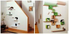 Juguetes para gatos Cat Enclosure, Peach Trees, Animal House, Decor Crafts, Home Decor, Life Is Beautiful, Ideas Para, Cute Cats, Pets