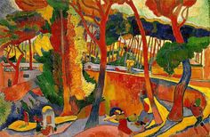"""André Derain was a French artist, painter, sculptor and co-founder of Fauvism with Henri Matisse. (Wikipedia) (""""The Turning Road"""" by Andre Derain) Andre Derain, Georges Braque, Henri Matisse, Matisse Art, Raoul Dufy, Fauvism Art, Maurice De Vlaminck, Museum Of Fine Arts, Figure Painting"""