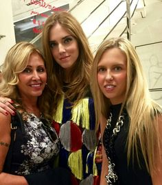 Marina Di Guardo, Chiara Ferragni and Giorgia Marin attend the Gio Moretti's cocktail during the 2015 Milan Fashion Week.