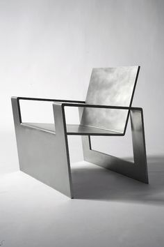 steel furniture Forrest Myers, Manifold, stainless steel chair (edition of Contemporary Furniture, Cool Furniture, Furniture Design, Furniture Removal, Contemporary Bathrooms, Furniture Online, Furniture Ideas, Metal Chairs, Cool Chairs