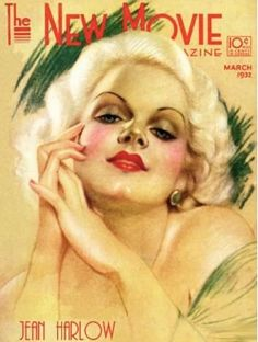 Jean Harlow art - magazine cover - March 1932