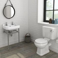 Discover the charming design of our Keswick 4 Piece Traditional Bathroom Suite. Traditional Bathroom Suites, Traditional Toilets, Cloakroom Suites, Cloakroom Basin, Wooden Toilet Seats, Utility Room Designs, Toilet Suites, Wall Mounted Basins, Wash Stand