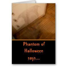 Ghost Dog Halloween Card