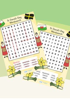 This vibrant St. David's Day Word Search is a fun and engaging way to teach children about the fascinating story behind Saint David, the patron saint of Wales. St Dwynwens Day, Saint David's Day, Kids Writing, Writing Paper, Fun Crafts To Do, Kids Crafts, Gs World, Queen 90th Birthday, St Georges Day