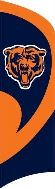 NFL Chicago Bears Tall Team Flags by Party Animal. $49.99. Does not require permanent flagpole to be installed or attached to house. Easy to assemble 11 1/2 foot steel pole with ground stake. Includes durable 8 1/2 foot tall by 2 1/2 foot wide Applique and Embroidered nylon flag. Proudly display your school spirit with this officially licensed NFL® team tall team flag from Party Animal™. The weather-resistant flag is emblazoned with a premium-quality applique and embr...