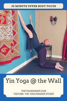 Join me in this practice as we use the wall to deepen our poses and stretch out the upper body. Using the wall can make for a very grounding, supporting practice and is overall a great experience! Yin Yoga Sequence, Yin Yoga Poses, Yin Yoga Benefits, Upper Body Stretches, Wall Yoga, Yoga Youtube, Shoulder Injuries, Yoga Props, Gentle Yoga