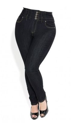 High waisted jeans in plus sizes!!!