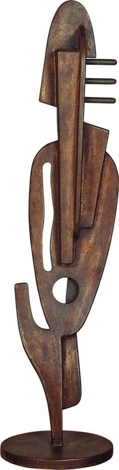 Paulo Laender - GUITARRA CANTANTE - escultura em aço oxidada - data 2009 - dim 25 x a2 x 103 cms