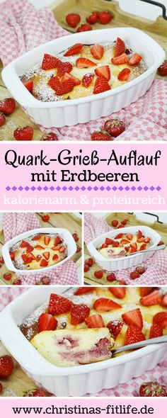 ᐅ Quark-Grieß-Auflauf mit Erdbeeren I Christinas Fitlife – Rezepte You need a slightly different breakfast idea? How about a quark semolina casserole with strawberries? One serving has only 288 calories and a whopping of protein and is very filling! Authentic Mexican Recipes, Mexican Chicken Recipes, High Protein Snacks, Protein Foods, No Bake Desserts, Healthy Desserts, Tostadas, A Food, Food And Drink