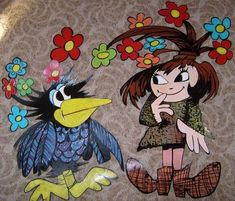 Rooster, Fairy Tales, Witch, Halloween, Cartoon, Drawings, Illustration, Animals, Spring