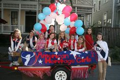 As we think out our possible float for the Christmas parade. :)