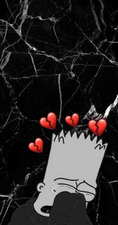 sad beard broken heart wallpaper - - Diy with Agatha - Simpson Wallpaper Iphone, Cute Emoji Wallpaper, Cartoon Wallpaper Iphone, Mood Wallpaper, Cute Disney Wallpaper, Trendy Wallpaper, Cute Wallpaper Backgrounds, Dark Wallpaper, Tumblr Wallpaper
