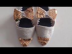 En kolay Stiletto pullu terlik yapımı - YouTube Crochet Shoes, Cross Stitch, Slippers, Make It Yourself, Dresses, Slipper, Creativity, Tejidos, Cute