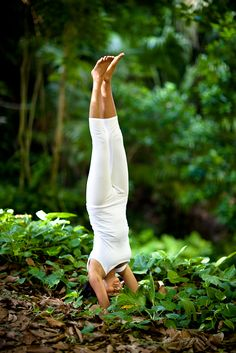 Headstand in nature.