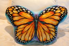 Butterfly Pillow by SugarDumplinBaby on Etsy, $15.99
