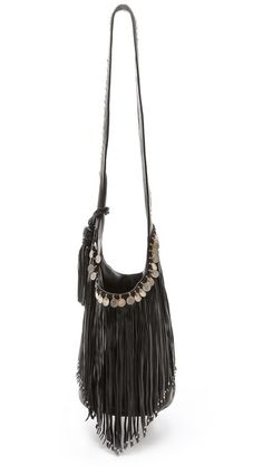 This boho-bag is sure to garner some compliments! // Simone Camille Studded Bucket Bag