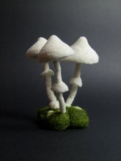 Mushrooms  Needle Felted by felttess