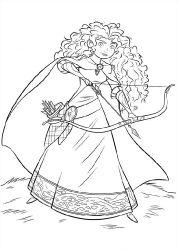 Dibujos para colorear de Merida (Brave Indomable)