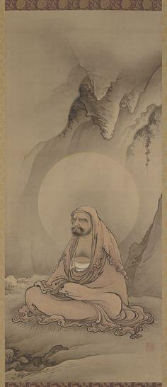 Bodhidharma seated in meditation