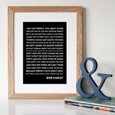 Bob Marley  'He's Not Perfect'  Anniversary by Hopeandlovedesign